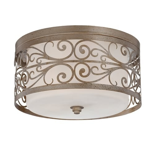 Jeremiah Lighting 35883 Worthington 3 Light Flush Mount Ceiling Fixture