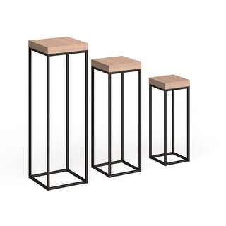 Link to Wood & Metal Pedestals - Set of 3 Similar Items in Living Room Furniture