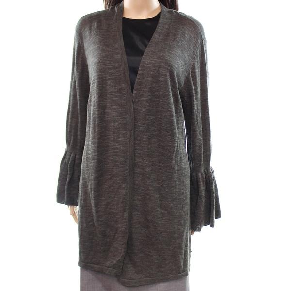 Shop Alfani New Green Womens Large L Ruffled Bell Sleeve Cardigan