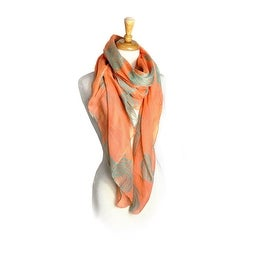 Women's Lightweight Scarves Rotation Flowers Printed Soft Large Scarf Wrap