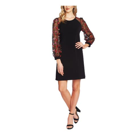 CECE Black Long Sleeve Short Dress S