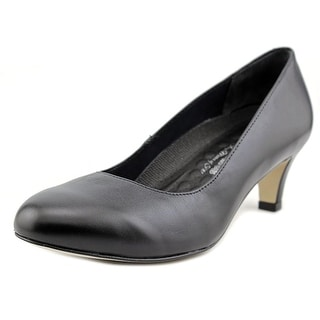 Walking Cradles Joy Women Round Toe Patent Leather Black Heels