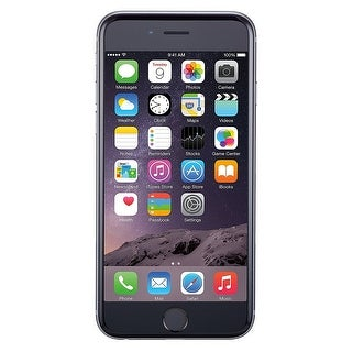 Apple iPhone 6 16GB Unlocked GSM 4G LTE Phone - Space Gray (New Open Box) - black