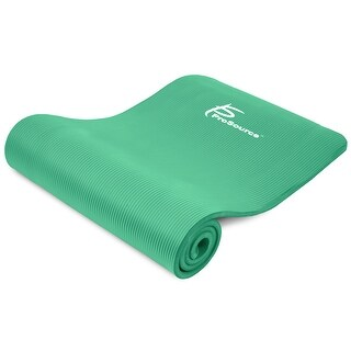 """ProsourceFit ½ Extra Thick Yoga Pilates Mat High Density Comfort Foam with Carrying Strap - Green - 71""""L x 24""""W x 1/2""""H"""