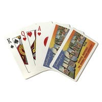 Eau Claire WI Large Letter Scenes Vintage Halftone (Poker Playing Cards Deck)