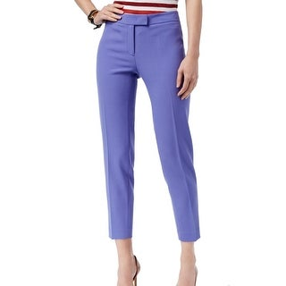 Anne Klein NEW Purple Women's Size 12 Slim-Leg Ankle Dress Pants