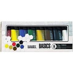 Liquitex Basics Acrylic Paint 75Ml/Tube 8/Pkg Colors Artist Painting Set