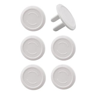 EliteBaby Cover Outlet Plug Protector For Baby Safety, 6 Pack - White