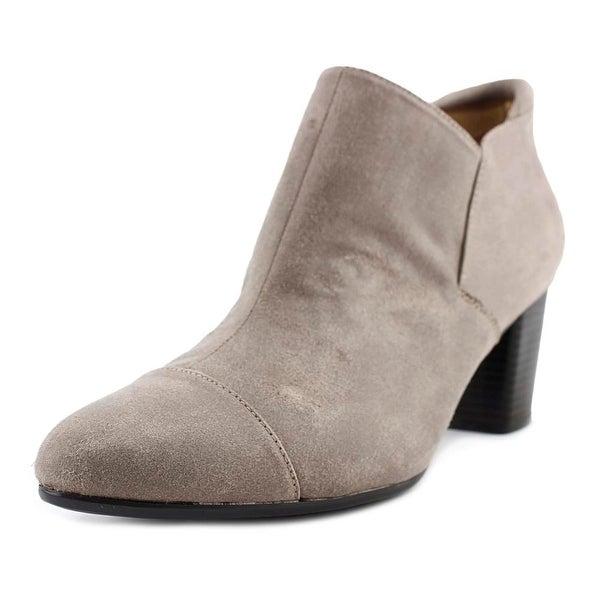 Naturalizer Neebo Women Round Toe Suede Gray Bootie