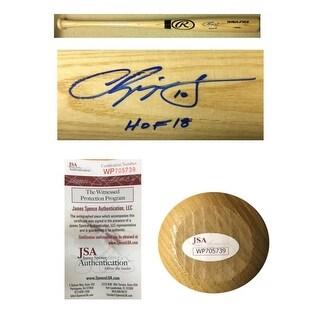 Chipper Jones Autographed Atlanta Braves Hall of Fame HOF 2018 Signed Baseball Bat JSA COA