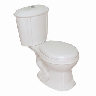 Bone China Round Dual Flush Toilet Seat Included Renovator's Supply