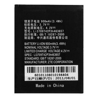 Replacement Battery for ZTE Li3709T42P3h463657 (Single Pack) Replacement Battery