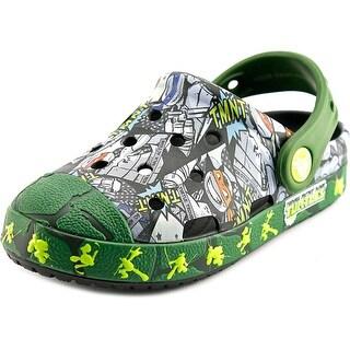 Crocs Crocs Bump It TMNT Clog Round Toe Synthetic Green Clogs