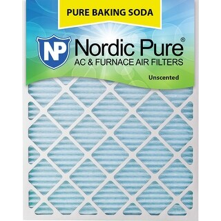 Nordic Pure 20x30x1 Pure Baking Soda AC Furnace Air Filters Qty 3