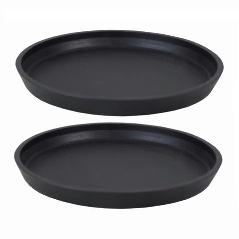 DreamPatio Fiberstone Round Saucer (Pair of 2)