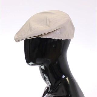 Dolce & Gabbana Beige Cotton Logo Newsboy Cap Hat