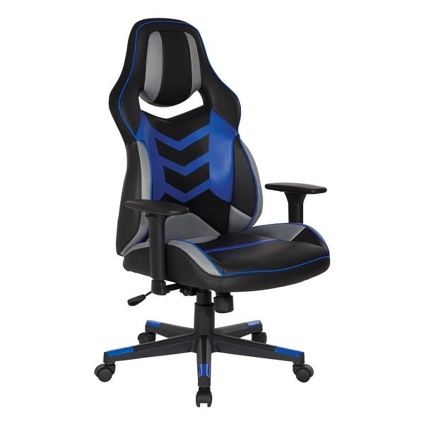 Eliminator Gaming Chair in Faux Leather with Color Accents. Opens flyout.