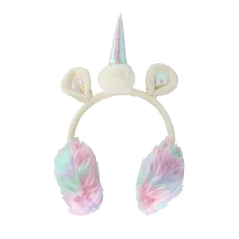 David & Young Colorful Unicorn Earmuff with 3D Ears and Horn - one size