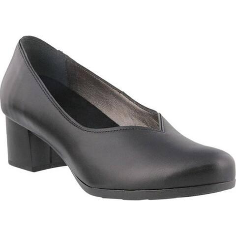 Spring Step Women's Feas Pump Black Leather