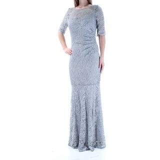 XSCAPE $209 Womens New 1301 Gray Lace Glitter 3/4 Sleeve Mermaid Dress 10 B+B