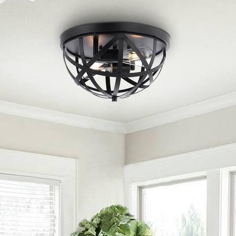 GetLedel 13.8-inch 2-Light Cage Dome Flush Mount