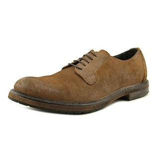 Mo Ma Pelle Men Round Toe Leather Brown Oxford