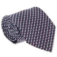 Ermenegildo Zegna Purple-Blue Cubic Grid Tie - 60-3