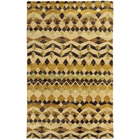 Tommy Bahama Ansley Geometric Tribal Handmade Jute Area Rug