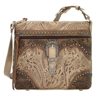 American West Women S Saddle Ridge Zip Top Shoulder Bag Sand Charcoal Brown Dusty Rose Us One Size None Ping