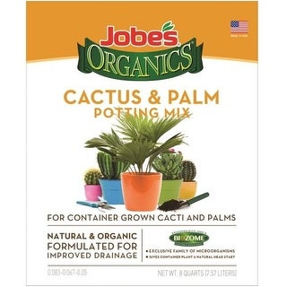 Easy Gardener 08788 Jobes Cactus & Palm Potting Mix, 8 Quart