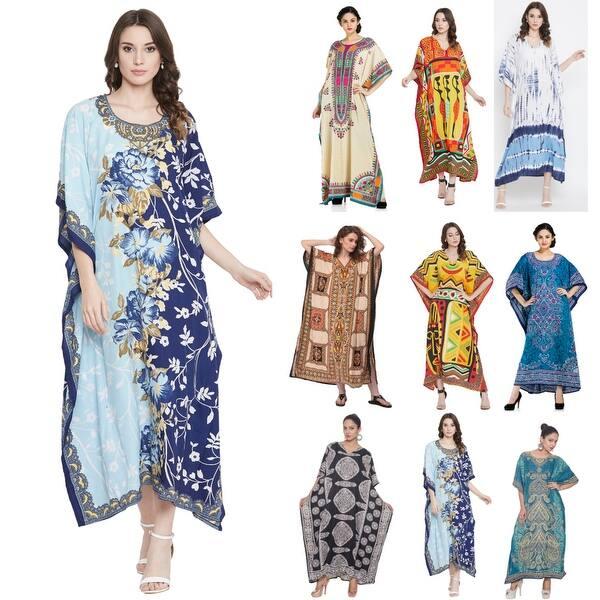 Women/'s V Neck Long Sleeve Evening Party Kaftan Dress Beach Long Maxi Dress Plus