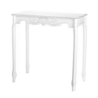 Distressed White Hallway Table