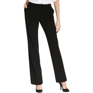 Calvin Klein Womens Dress Pants Flat Front Faux Back Pockets