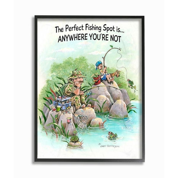 Stupell Industries Perfect Fishing Sport Funny Sports Cartoon Design Framed Wall Art. Opens flyout.