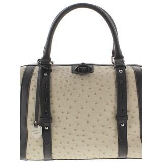 London Fog Womens Doctors Handbag Textured Faux Leather - Medium