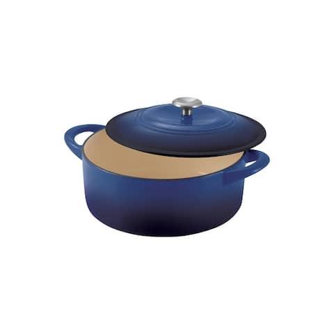 Tramontina 6 Qt Enameled Cast Iron Covered Dutch Oven - Cobalt Blue