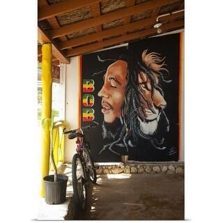Poster Print entitled Bob Marley mural at Blazer on the Bay bar and restaurant