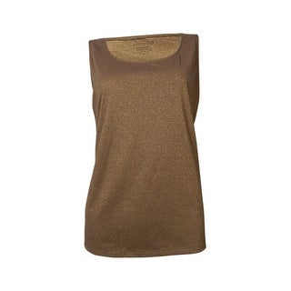 Charter Club Women's Metallic Scoop Neck Knit Tank