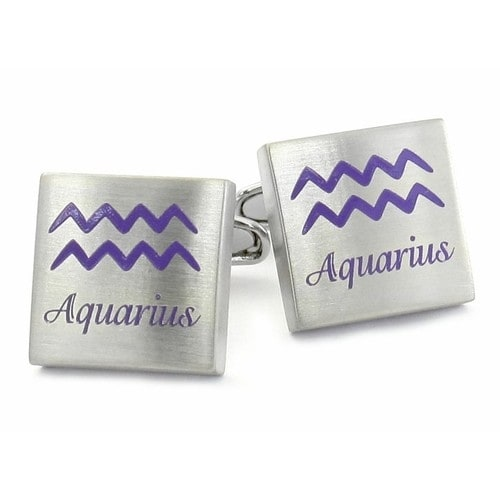Aquarius Horoscope Cufflinks Astrology