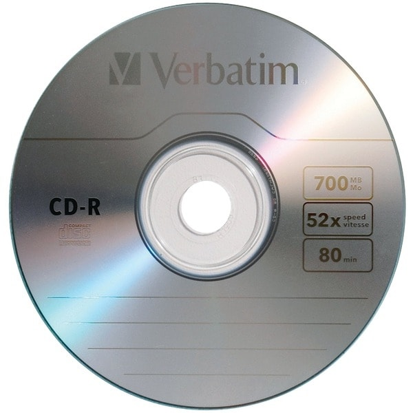 Verbatim 97955 700Mb 80-Minute Cd-Rs, 10 Pk