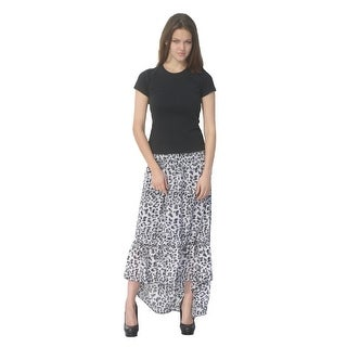 Hi-Lo Style Cover-Up Skirt in a grey/black animal print