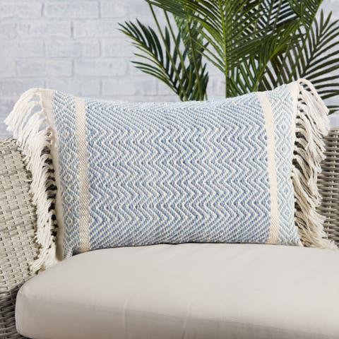 Iker Indoor/ Outdoor Chevron Lumbar Pillow
