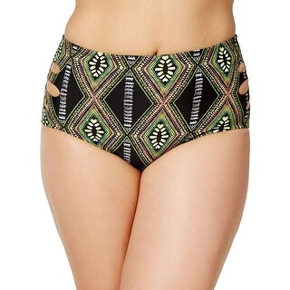 RAISINS CURVE Green Women's Size 22W Plus Kololi Bikini Bottom
