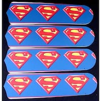 Superman Custom Designer 42in Ceiling Fan Blades Set - Multi
