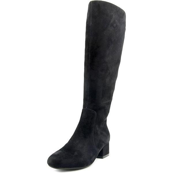 Anne Klein Camden Round Toe Suede Knee High Boot