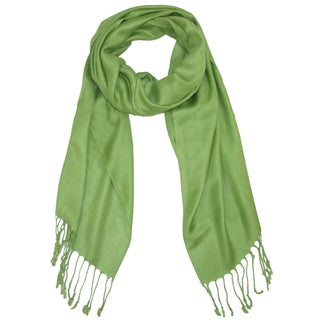 CTM® Women's Classic Pashmina Shawl Wraps - One size (Option: Green)