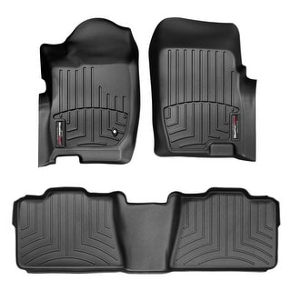 WeatherTech 44043-1-2 Black Front & Rear FloorLiner: Ford Explorer 2006 - 2010