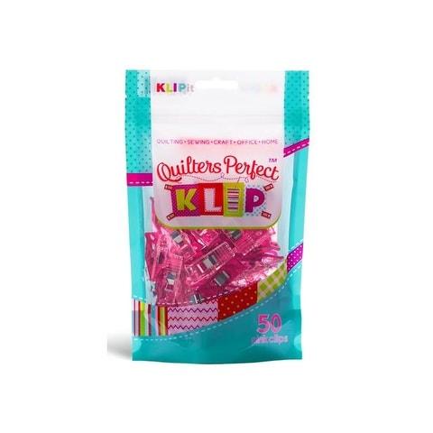 KLIPit Quilters Perfect Klip 50pc Pink