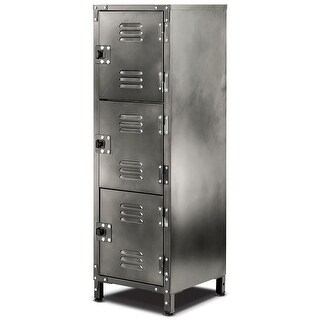 "Allspace 3 Door Steel Locker With Vintage Finish 39""H X 13-3/4""D x 12""W, 450112E"