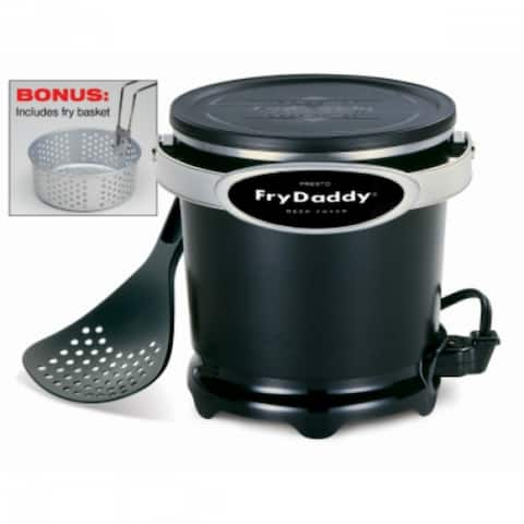 Presto 05425 FryDaddy Plus Electric Deep Fryer with Frying Basket